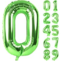 Lausatek バルーン アルミ風船 数字0 ナンバー 40インチ 大きい 誕生日 ハッピーバースデー 飾り付け ウェ…