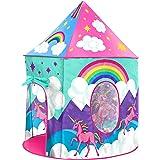 USA Toyz Unicorn Kids Play Tents for Girls and Boys - Unicorn Playhouse Pop Up Princess Tent w/ Unicorn Headband and Tent Car