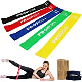 PROIRON Resistance Loop Bands, Exercise bands Set of 5 Rubber Latex Anti-Slip Resistance Band with 5 Different Resistance Lev