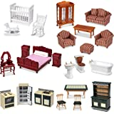 "Melissa & Doug Classic Victorian Wooden & Upholstered Dollhouse Furniture, 1: 12 Scale, 35Piece, 20"" H X 14"" W X 12"" L (E-Com"