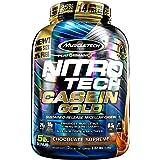 Casein Protein Powder | MuscleTech Nitro-Tech Casein Gold Protein Powder | Slow-Digesting Micellar Casein Protein Powder for