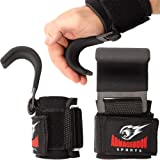 Armageddon Sports Premium Weight Lifting Wrist Hooks Straps for Maximum Grip Support - Deadlift Gloves and Grip Pads Alternat