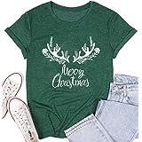 Nana Claus Santa Hat Cute Graphic T-Shirt Women Christmas Plaid Letter Print Short Sleeve Casual Tee Tops Xmas Gift Shirt