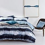 MILDLY 3 PC 100% Egyptian Cotton Duvet Cover Set, Ultra Soft Quality Premium Bedding Collection, Hidden Zipper Closure, Corne