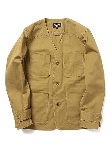 Strech Cotton No Collar Jacket 11-16-0943-277: Beige
