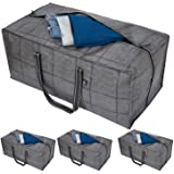VENO Heavy Duty Extra Large Storage Bag, Moving Bag Tote (4-Pack), Clothes Organizer, For Blanket, Comforter, Bedroom closet,