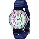 EasyRead Time Teacher Learn The Time Past/To Children's Waterproof Watch Navy #WERW-COL-PT-NB