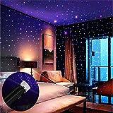 Star Projector Night Light, BAILONGJU Auto Roof Lights, Adjustable Romantic Violet Blue Interior Car Lights, Portable USB Nig