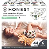 The Honest Company Club Box Clean Conscious Diapers + Size Packaging May Vary, All Letters/Skulls, 44 Count