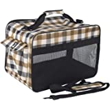 Petper CW-124 Soft Sided Carrier Pet Cat & Dog Carrying Handbag for Outdoor Travel Walking Hiking