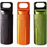 PPFISH Military Grade Air-Tight EDC Accessory Case, Waterproof Pill Fob Capsule/Match Case Battery Holder Case, Outdoor Survi