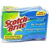 Scotch-Brite Non-scratch Scrub Sponge, 3 Count (Pack of 8)