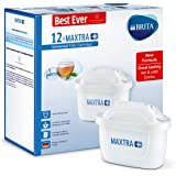 BRITA MAXTRA+ Water Filter Cartridges, Compatible with BRITA Jugs, Helps with Reduction of Limescale and Chlorine, Pack of 12