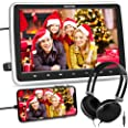 WONNIE 10.5'' Car DVD Player with Headrest Mount, HDMI Input, 1080P Video Support, Headphone, AV in / Out, USB /SD, Regions F