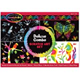 Melissa & Doug Scratch Art Deluxe Combo Set (Arts & Crafts, Hides Colors & Patterns, Easy to Use, Supplies for 16 Projects, 3