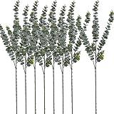 "Naidiler 8 Pcs 30"" Tall Faux Eucalyptus Stems, Artificial Eucalyptus Branches Frosted Fake Eucalyptus Plant Stems for Vase Fa"