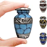 Hydra Small Blue Aluminum Keepsake Cremation Urn | Choose from Four Unique Colors | Mini Metal Sharing Personal Funeral Urn f