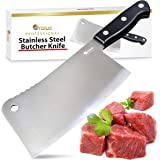 (28cm Butcher Knife) - Orblue Premium Meat Cleaver - Stainless Steel Chef Butcher Knife for Cooking - Professional 18cm Blade