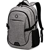 Laptop Backpack,Business Travel Anti Theft Slim Laptops Backpack with USB Charging Port,Durable Water Resistant Computer Bag