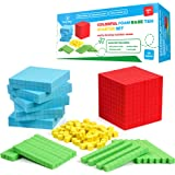 Simply Magic 131 PCS Foam Base Ten Blocks for Math - Place Value Blocks, Base 10 Math Manipulatives K-3, Math Counters, Numbe
