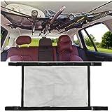 MDSTOP SUV Ceiling Storage Net with Fishing Rod Holder, Interior Car Roof Rack Mesh Storage Rack Polyester Mesh Sundries Orga
