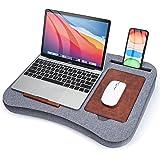 [Amazonブランド]Eono (イオーノ) ラップデスク 膝上テーブル ノートパソコン用膝上デスク ベッドテーブル 15.6インチまで対応 グレー