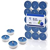 Blueberry Candle Scented Tealights - 30 Pack - Made in USA (Blueberry Pie)