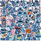 JJLIN 50Pcs Fairy Tail Stickers Waterproof Vinyl Stickers for Water Bottle Luggage Bike Car Decals Stitch