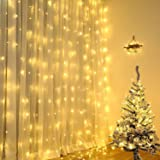 Elegear イルミネーションライト LEDカーテンライト クリスマスライト 2m*3m 300LED電球 ガーデンライト ストリングライト 6本連結可能 8種類の切替モード 飾りライト IP44防水 屋内/屋外 コンセント式 クリスマス/正月/新