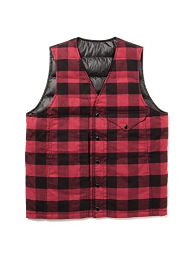 Reversible Mackinaw Vest 11-06-0326-120: Red / Black