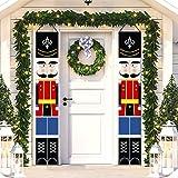 Christmas Decorations Outdoor Xmas Decor Soldier Model Porch Sign Nutcracker Banners for Front Door Garden Indoor Exterior Ki