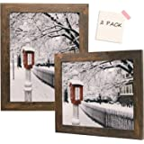 Golden State Art, Set of 2, 11x14 Brown Picture Frame - Wide Molding - Wood Grain Style - Back Hangers for Wall Display - Gre