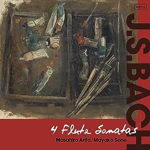 J.S.バッハ : 4つのフルート・ソナタ / 有田正広、曽根麻矢子 (J.S.Bach : 4Flute Sonatas / Masahiro Arita, Mayako Sone) [CD] [国内プレス] [日本語帯・解説付]