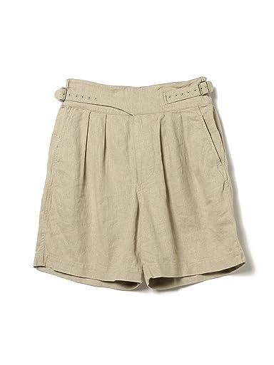 Linen Gurkha Shorts 11-25-1549-139: Beige
