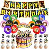 My Hero Academia Party Supplies, Birthday Decorations Set Including Balloons, Banner, Cake Toppers, Cupcake Toppers for MHA F