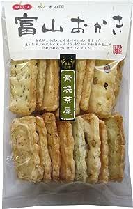 北越 富山おかき 素焼茶屋 16枚×8袋