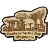 Printtoo Gardens By The Bay Engraved Wooden Souvenir Fridge Magnet Collectibles