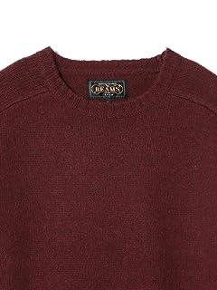 5 Gauge Wool Crewneck Sweater 11-15-0879-103: Burgundy