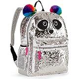 Panda 2 Way Sequins Critter Backpack 16