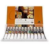 Marie's Oil Paint Set, 12 Vivid Colors in 12 ml Tubes, Premium, Rich and Creamy Pigments, Easy to Blend and Crack Resistant f