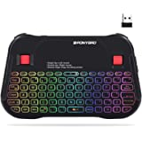 (Newest Version) PONYBRO Backlit Mini Bluetooth Wireless Keyboard with Touchpad Mouse Combo QWERTY keypad,Rechargeable Handhe