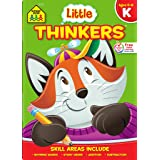 School Zone - Little Thinkers Kindergarten Workbook - 64 Pages, Ages 5 to 6, Alphabet, Counting, Rhyming, Sequencing, Problem