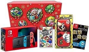 【Amazon.co.jp限定】<ニンテンドースイッチ オリジナルギフトセット>スーパー マリオパーティ+Nintendo Switch 本体 ネオンブルー/ネオンレッド(バッテリー持続時間が長くなったモデル)+アクセサリーセット+おまけ付き