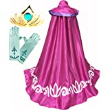 Cokos Box Girls Frozen Elsa Accessories Long Cape Cloak, Gloves, Tiara, Accessories Set