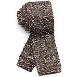 [ダブリューアンドエム] 5.5cm 幅 ニットタイ ナロータイ ニット ネクタイ 洗濯 可能 無地 杢 霜降り メランジ ヘザー