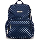 JuJuBe | Zealous Backpack | Lightweight Travel-Friendly with Pocket Organization for Kids or Adult Diaper Bag | Navy Duchess