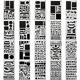 20 PCS Journal Stencil Plastic Planner Set for Journal/Notebook/Diary/Scrapbook DIY Drawing Template Journal Stencils 4x7 Inc