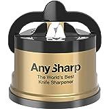 AnySharp Knife Sharpener, LTD Edition Gold, The World's Best As Seen on QVC, Original Patented Tungsten Carbide Pro Sharpenin