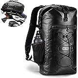 Waterproof Motorcycle Backpack for Men and Women Large Capacity Motorbike Sissy Bar Storage Backpack Black 35L Outdoor Sport