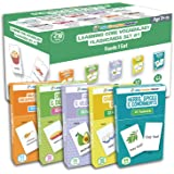 Set 5 Flash Cards for Toddlers - 216 Food Meals, Fruits & Vegetables, Dairy, Bread & Nuts, Herbs, Spices & Condiments Flash C